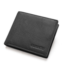 Men Wallets Leather Slim Wallet with Anti-theft Blocking Technology Genuine