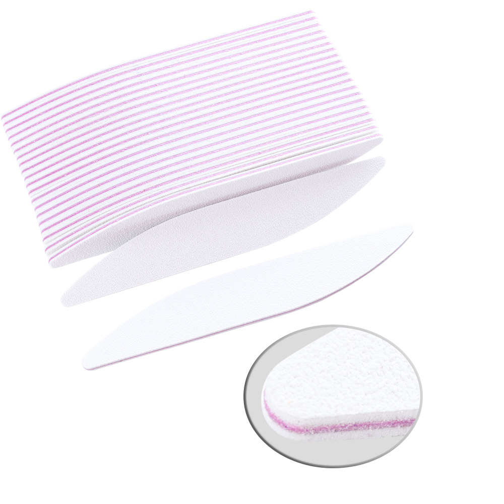 5pcs Nail File Sanding Buffer Grinding Professional White Reusable Sponge Nail Buffer For Women Nail Art Salon Beauty Tool TRA25