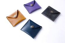 The first layer of handmade cowhide vintage wallet Crazy Horse leather ladies small wallet full leather coin bag