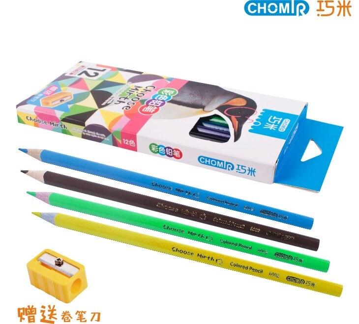 24 pièces En Bois Professionnel Dessin triangle Crayon Crayons De Couleur Pour Étudiant Dessin Croquis Art Fournitures
