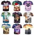 Women Men T-Shirt cat politician pyramids UFO rainbows Fashion Clothing tees Summer Style 3d t shirt 21 style plus size S-XXL