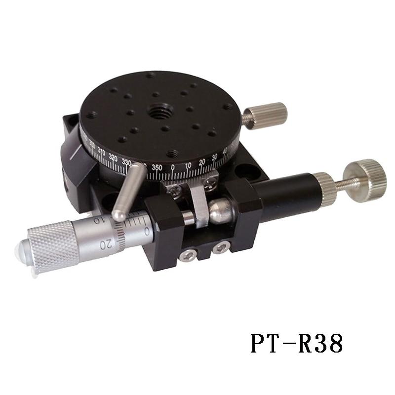 цена на PT- R38/R60/R80/R100/R125 R Axis Manual Rotary Stage Rotation Stage Rotating Platform 360 degree rotary table