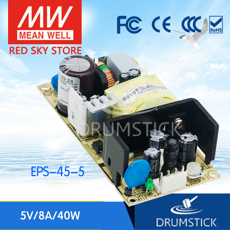 Best-selling MEAN WELL EPS-45-5 5V 8A meanwell EPS-45 5V 40W Single Output Switching Power SupplyBest-selling MEAN WELL EPS-45-5 5V 8A meanwell EPS-45 5V 40W Single Output Switching Power Supply