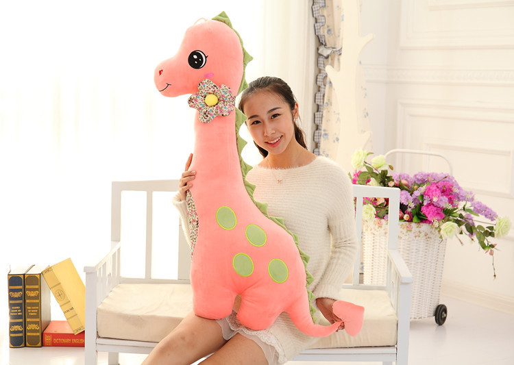 big size lovely pink dinosaur toy plush dinosaur pillow doll gift about 100cm 0056