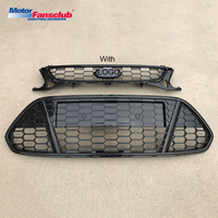 2Pcs Car Racing Grille For Ford Mondeo Grill MK4 2011 2013 2012 Radiator Pickup Raptor With Badge Mesh ABS Front Bumper Modify