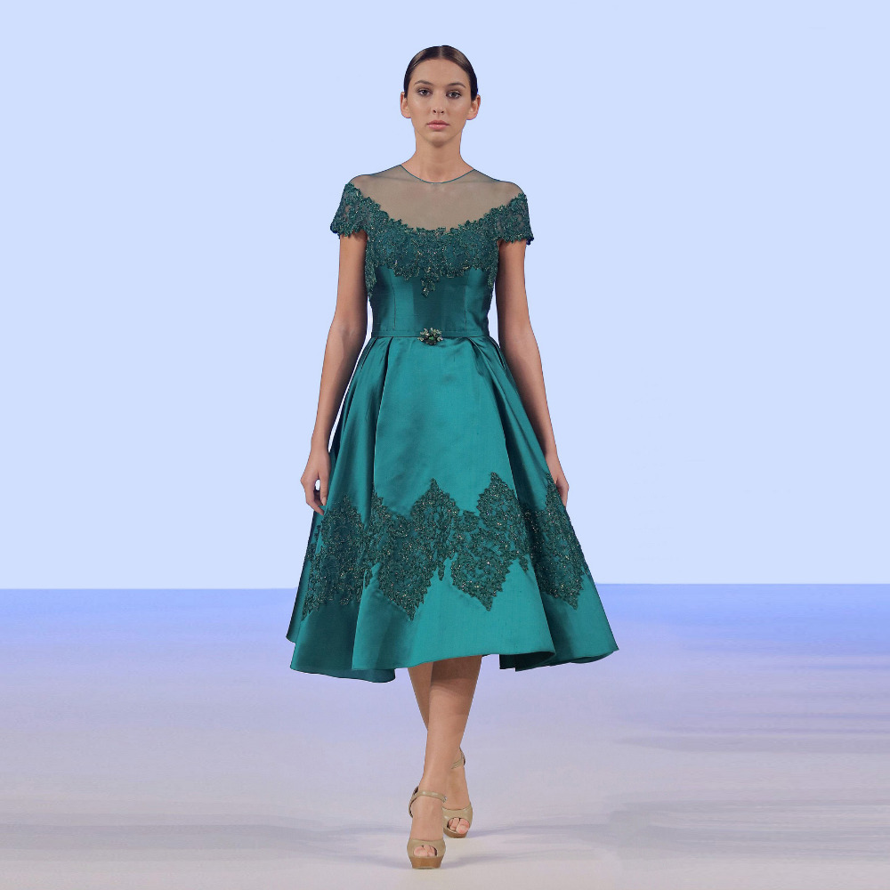 Exelent A Line Tea Length Mother Of The Bride Dresses Vignette - All ...