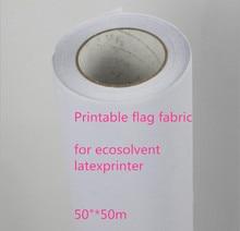 "50 ""* 50 m מצוין ספיגת דיו 120Gsm אקו ממס פוליאסטר הדפסת דגל בד עם שחרור נייר"
