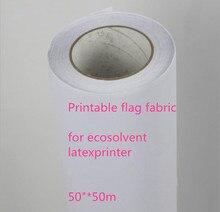 """50 """"* 50 mt Ausgezeichnete tinte absorption 120Gsm eco lösungsmittel polyester druck flagge stoff mit release papier"""