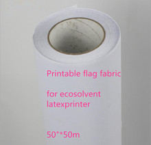 "50""* 50m Excellent ink absorption 120Gsm eco solvent polyester printing flag fabric with release paper"