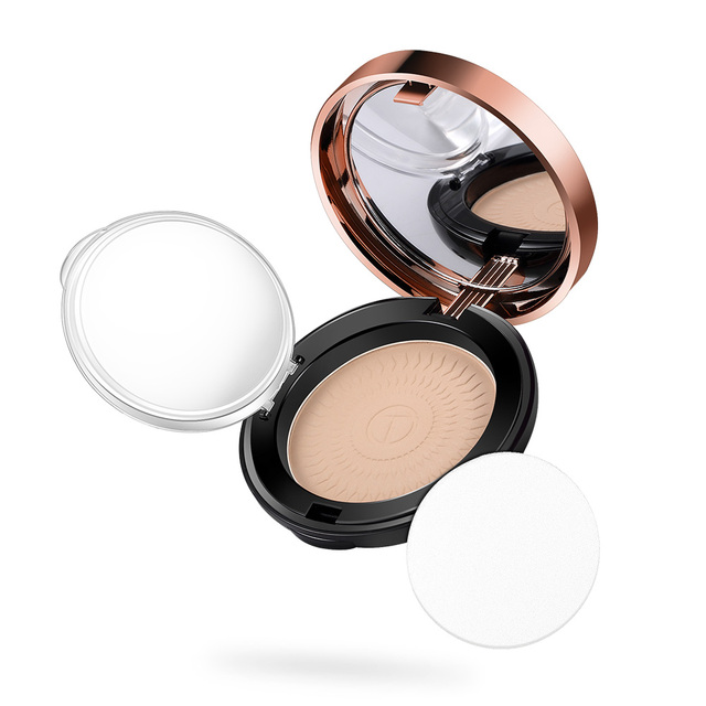 O.TWO.O Natural Face Powder Mineral Foundations Oil-control Brighten Concealer Whitening Make Up Pressed Powder With Puff 3
