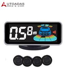 6060 sensor de aparcamiento 4 Sensores Del Coche Colorido pantalla LCD sensor impermeable 18.5mm de ayuda al aparcamiento de coches de alarma
