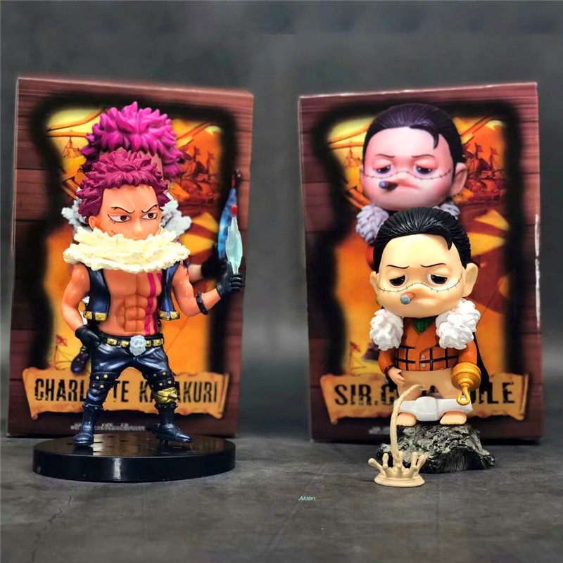 6 One Piece Big Mom Pirates Childhood Charlotte Katakuri Sir Crocodile Mr.0 Pvc Action Figure Collectible Model Toy 15 Cm B102 Invigorating Blood Circulation And Stopping Pains Toys & Hobbies