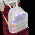 Creative backpack mini girls school for teenagers waterproof LED light transparent backpacks fashion travel ladies pvc bookbag
