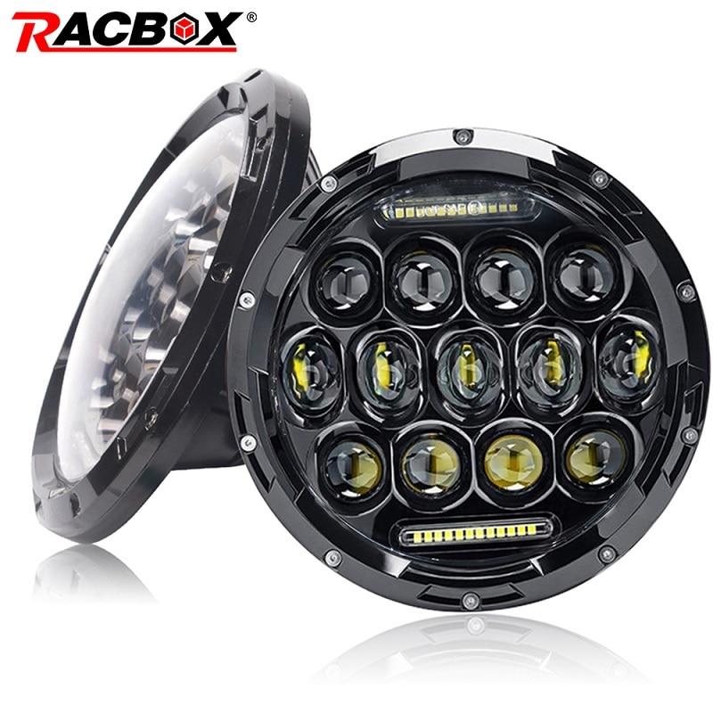 "2x 80W 7/"" Inch Round LED Light H4 Hi//Low//DRL Projector JK Headlights H6024"