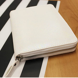 Image 2 - New Arrive lian A5 A6 White & Color Original HOBO Zip Bag Planner Creative Faux Leather Diary Notebook Without Filler Pages