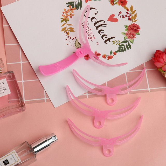 4Pcs/Set Reusable Eyebrow DIY Drawing Guide Styling Shaping  Stencil Set Eye Brow Mold Template Card Makeup Beauty Kit 3