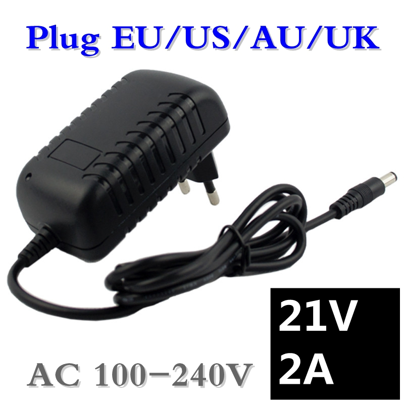 21V 2A Lithium Battery Charger Electric Screwdriver 18V 5Series 18650 Lithium Battery Wall Charger DC 5.5 * 2.1 MM Free shipping