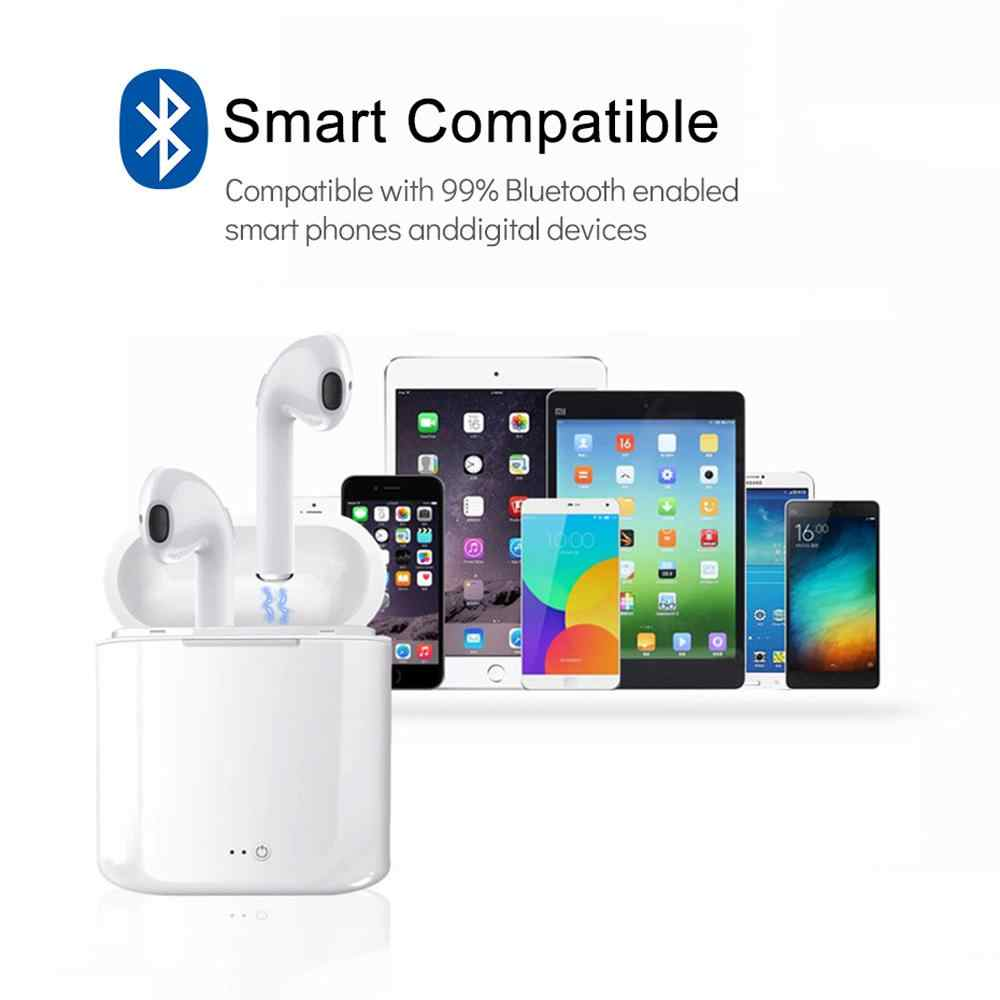 I7 I7s TWS słuchawki Bluetooth Ture bezprzewodowy zestaw słuchawkowy Stereo bezprzewodowe słuchawki douszne słuchawki sportowe słuchawki douszne z mikrofonem do telefonów iphone najnowszy