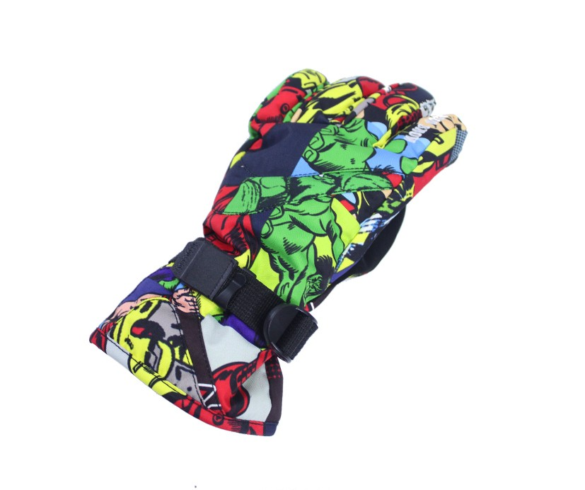 8-14 year-old children ski gloves cartoon riding snowboarding skiing gloves big child winter outdoor waterproof sports gloves