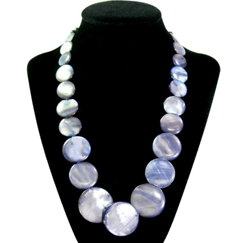 Exaggerated Popular Natural Shell Pearl Necklace Women Ladies Handmade Choker Necklace Bohemian Collarbone Chain Party Jewelry in Choker Necklaces from Jewelry Accessories