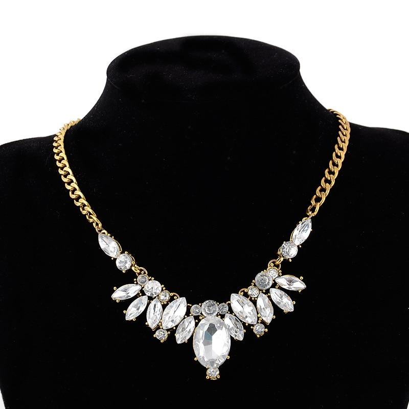 Заявление Ожерелья подвески для женщин CZ кристалл стразы элегантный люкс партии свадебный клуб подарок ювелирных изделий ожерелья