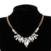 ФОТО Statement Necklaces pendants for women CZ crystal rhinestones elegant luxury party wedding club gift  jewelry necklaces