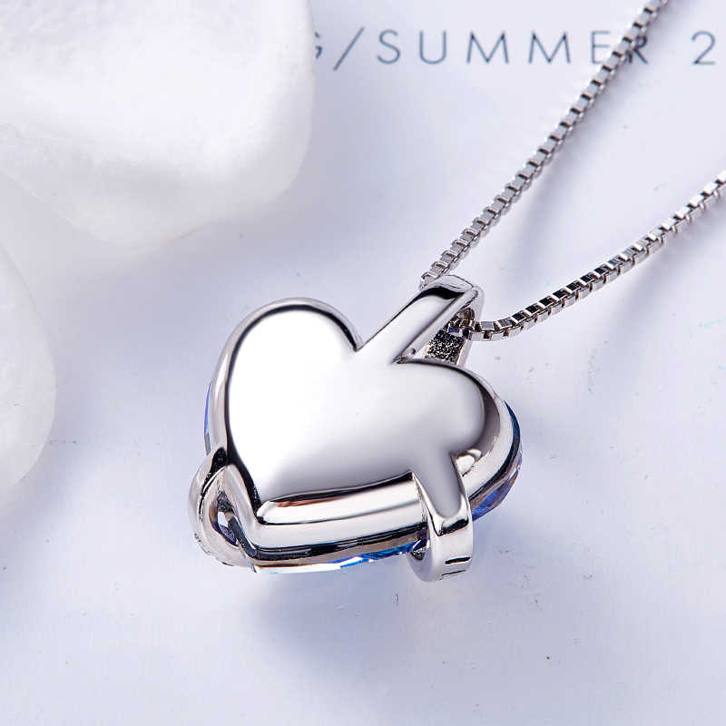 e248882cf ... Cdyle Love You Forever Necklace Crystals from Swarovski Valentine's Day  Gift For Women Charm Blue Crystal ...