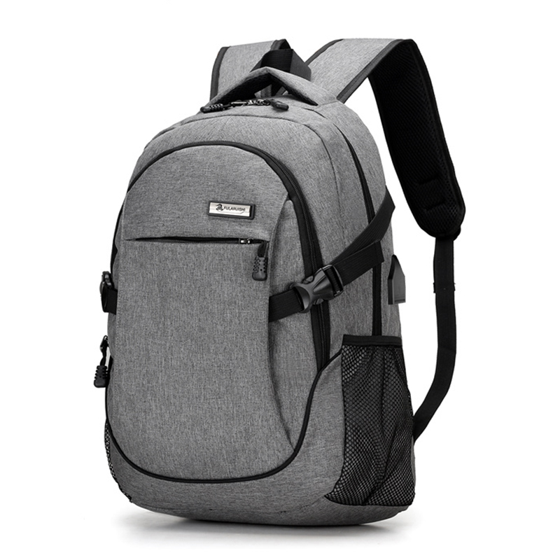 USB Laptop Backpack Multifunction Travel Bags Waterproof Oxford Black School Bags Teenag ...