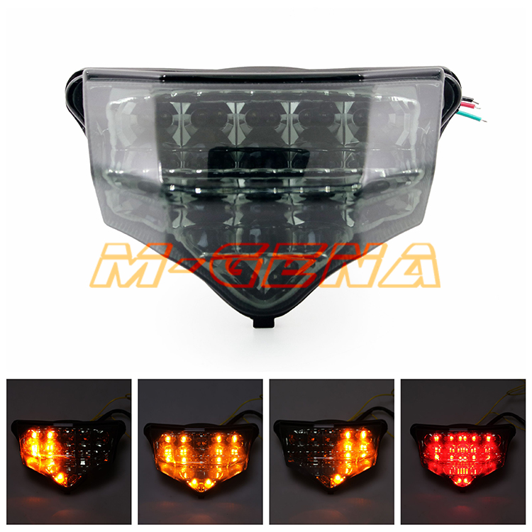 Motorcycle LED Rear Turn Signal Tail Stop Light Lamps Integrated For FZ6 Fazer 600 2004 2005 2006 2007 2008 2009