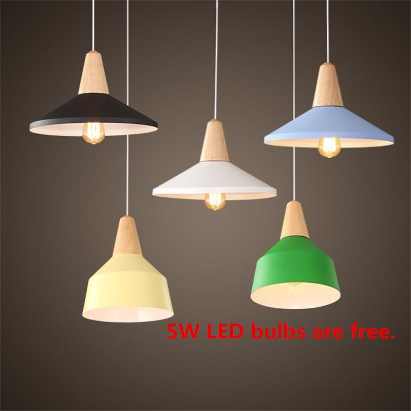 Modern fából készült medálfény alumínium ipari világítás - Beltéri világítás