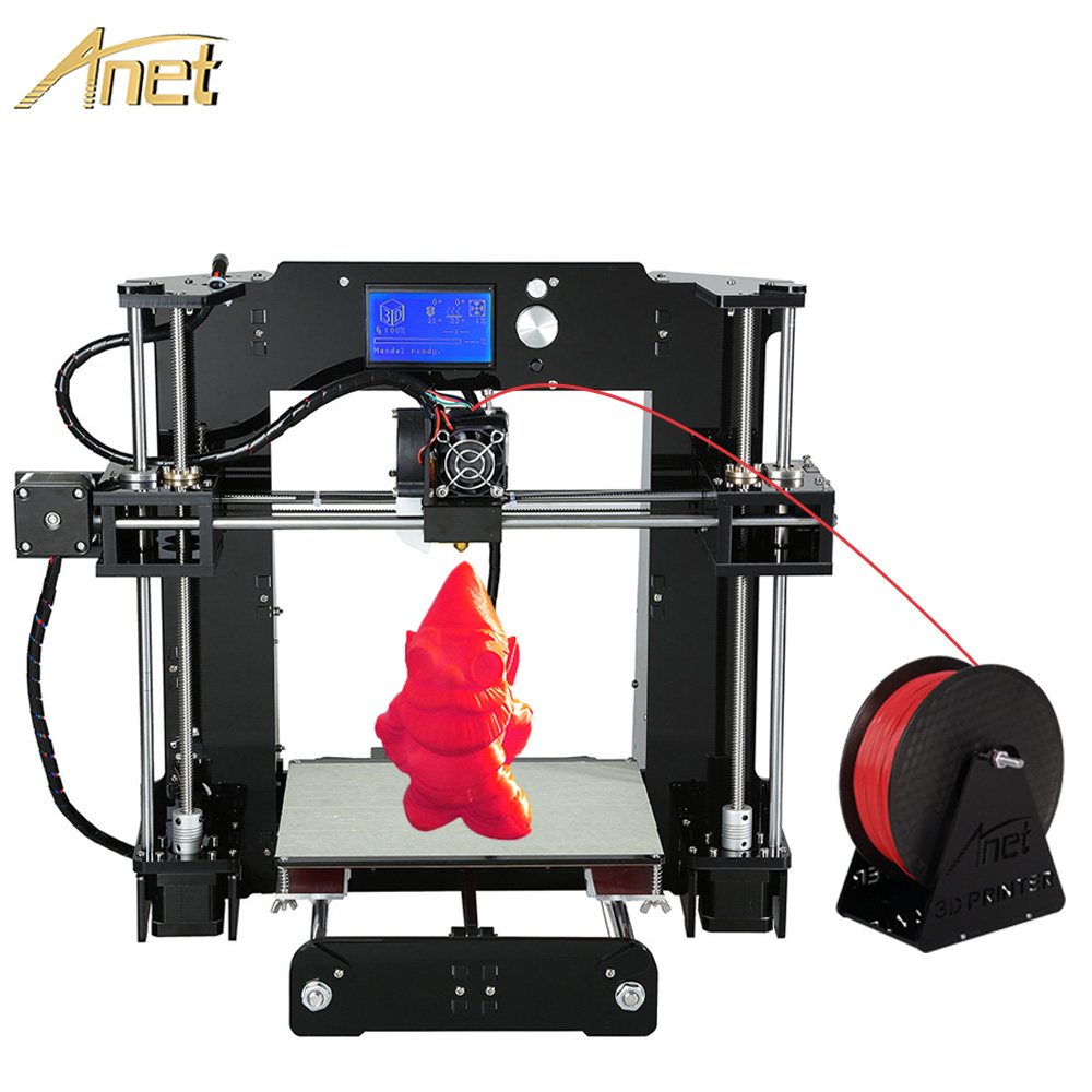 2016 11.11 Promotion High Quality Large Printing Size Anet A6 Upgrated Reprap Prusa i3 3D Printer Kit DIY With Free Filaments