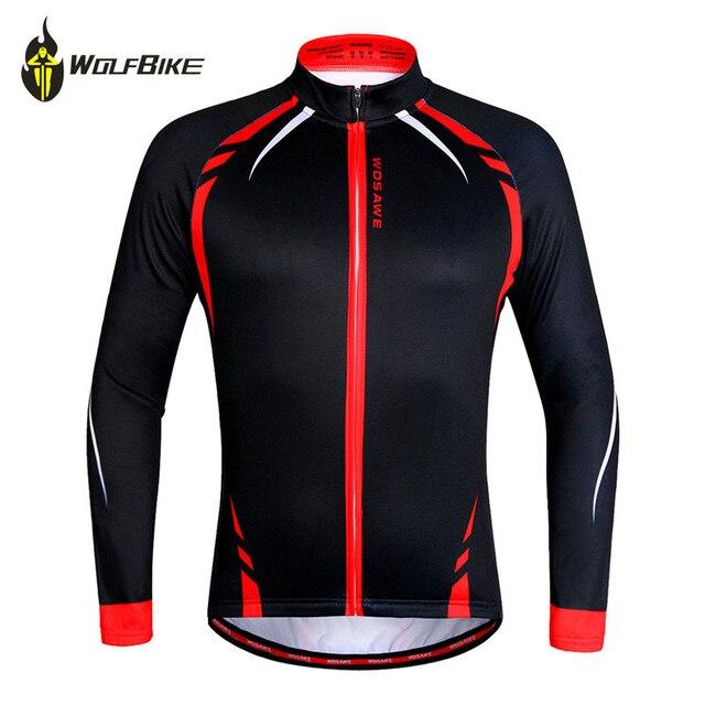 5f205a9b1 WOLFBIKE Men s Winter Cycling Jackets Windproof Bike Jerseys Bicycle Coats  Clothing Long Sleeve Fleece Thermal Wear