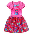 Baby Girl Cartoon Children layered Princess Dresses Vestidos Children Clothing Party Costumes red/pink