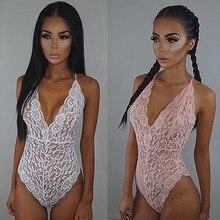2016 Новый Сексуальное Женское Белье Женщин Боди и Боди Кружева Спинки Боди Ночное Белье Ночная Сорочка Пижамы