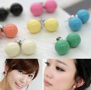 1.2cm Stud Earrings ear rings Fashion for women Girls lady sweet candy balls desgin CN