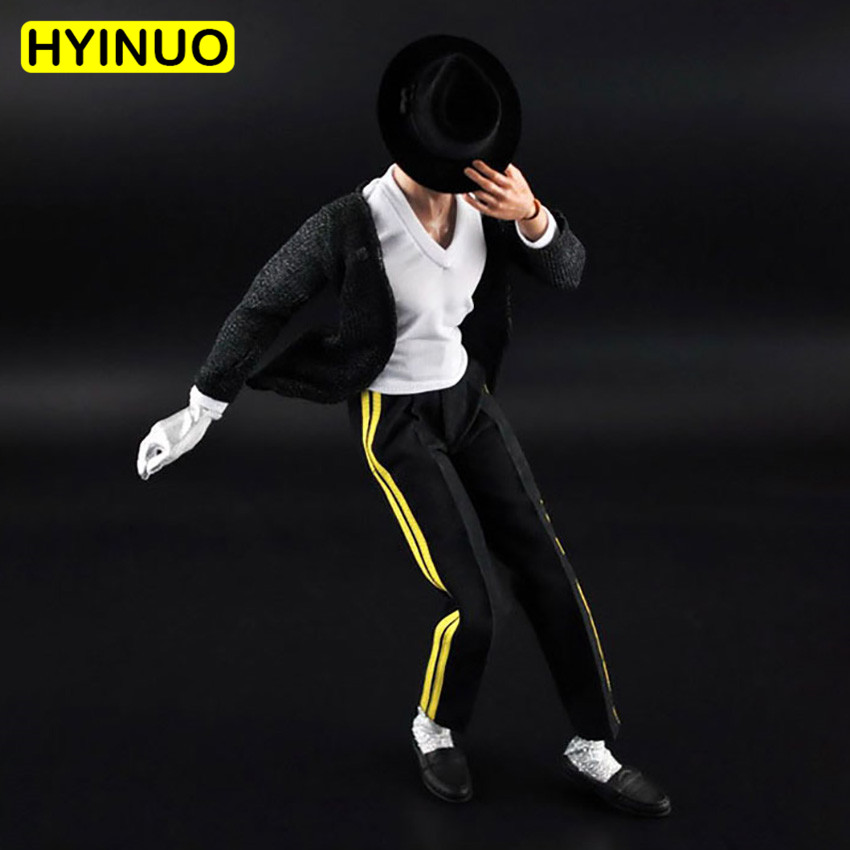 1/6 Scale Michael Jackson Black Fashion Street Dance Clothes Set Clothes Clothing Suit Set Model for 12''Action Figure Body-in Action & Toy Figures from Toys & Hobbies    1