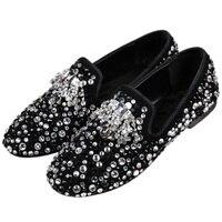 Роскошная женская обувь, дизайнерские женские лоферы на плоской подошве с круглым носком, украшенные стразами, серебристого, синего и золот