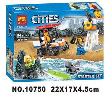 City Coast Guard Starter Set BELA Building Blocks Sets Bricks Classic Model Kids Toys For Children Gift Compatible Legoe 1
