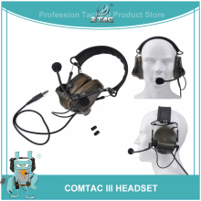 цена на Z-Tac Tactical Airsoft Aviation Peltor Comtac III Headset Noise Canceling Softair Active Headphone For Shooting And Hunting Z051