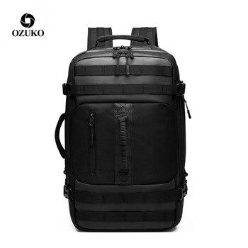 цена на OZUKO Multifunction Backpack Men 15.6 inch Laptop Men Backpacks Large Capacity Fashion Male Mochila Waterproof Travel Bag New