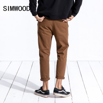 SIMWOOD 2019 New Spring Spring Casual Pants Men Fashion Brand Clothing Slim Fit Plus Size Ankle-Length Corduroy Trousers 180573 1