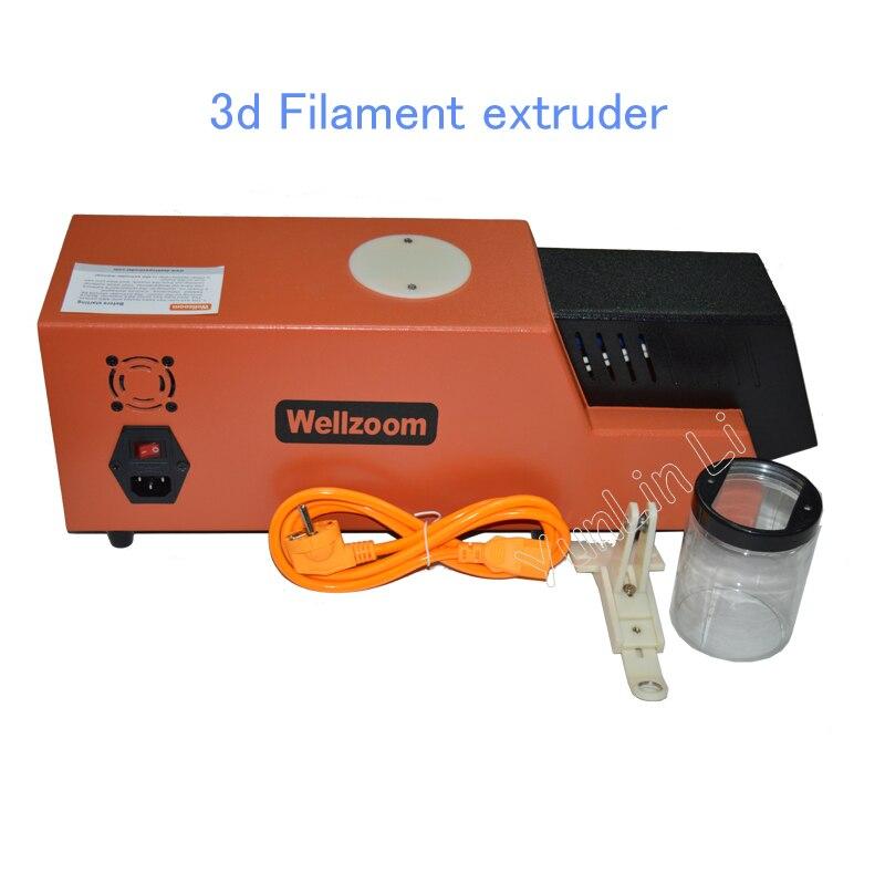 3d Máquina Extrusora Filamento/Criador Desktop 3D Consumíveis de Impressão 3d Filament Extrusora 1.75 milímetros 3mm do Tipo B