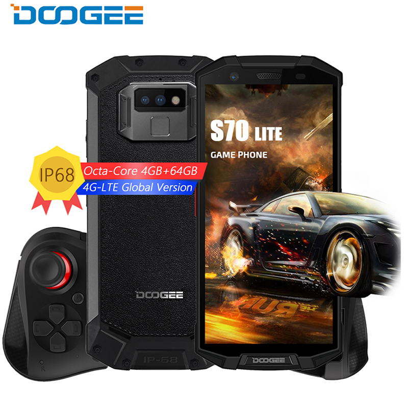 IP68 DOOGEE DOOGEE S70 Lite Celular À Prova D' Água de Carga Sem Fio NFC 5500mAh 12V2AQuick P23 Carga 5.99 ''MTK Octa Núcleo 4GB 64GB