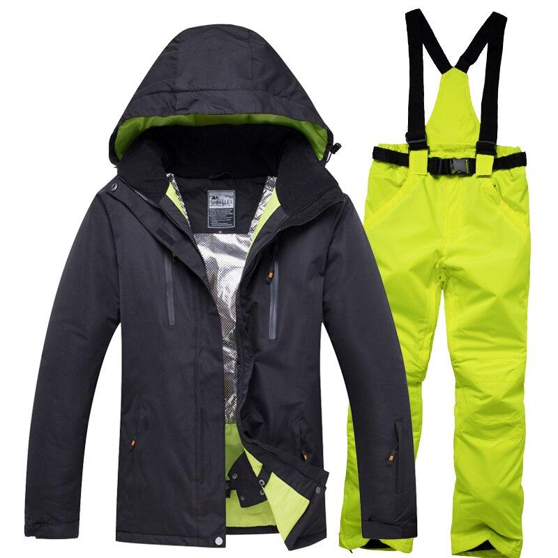2019 RIVIYELE marque hommes veste de Ski pantalon Snowboard vêtements pantalon coupe-vent imperméable Sport de plein air porter costume d'hiver unisexe