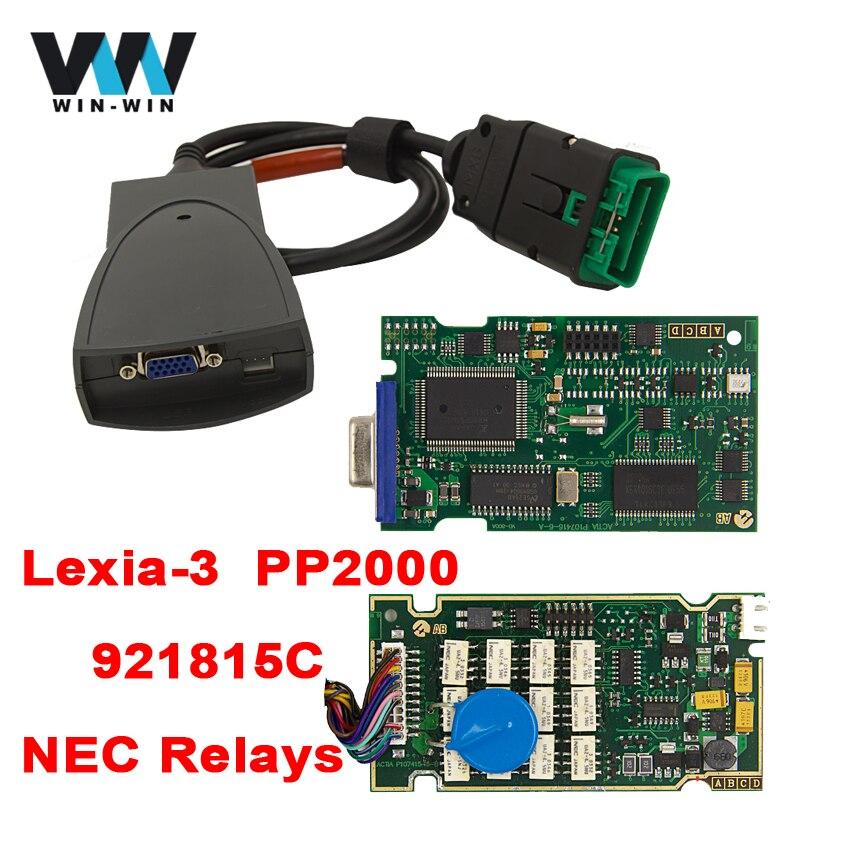 Цена за Lexia3 PP2000 для Citroen/Peugeot OBD OBD2 Диагностический Инструмент с 921815C Чип Diagbox V7.83 Обновление Программного Обеспечения CD Mulit-язык