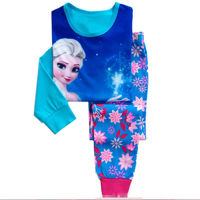 Funfeliz Anna Elsa Sleepwear for Girls Autumn Winter Girl Pajamas - Children's Clothing - Photo 2