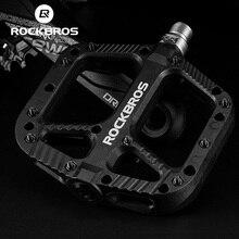 ROCKBROS bisiklet pedallar Ultralight kaymaz dağ bisikleti pedallar mühürlü naylon rulman MTB Bicicleta bisiklet düz bisiklet parçaları