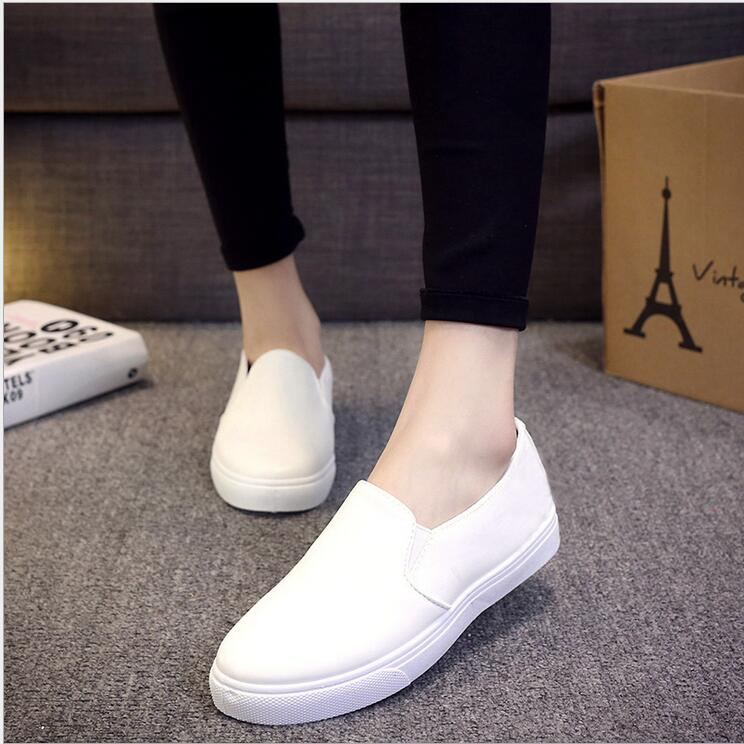 The latest spring and autumn solid color shoes Korean flat shoes black lazy shoes fashion shallow