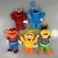 Sesame Street ELMO BIG BIRD COOKIE MONSTER ERNIE BERT 13cm Plush Toys Cartoon Soft Stuffed Dolls Pendant Kids Gift