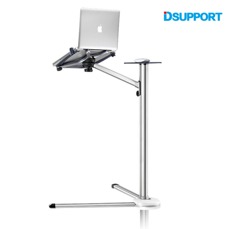 UP-7 360 Degree Rotation Height Adjustable Laptop Floor Stand With Mouse Tray Aluminum Alloy Ergonomics Laptop Desk Holder